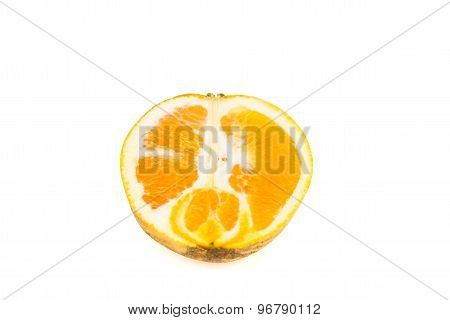Juicy and sweet tropical highland orange isolated in white