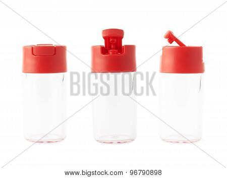 Special glass liquid's container isolated