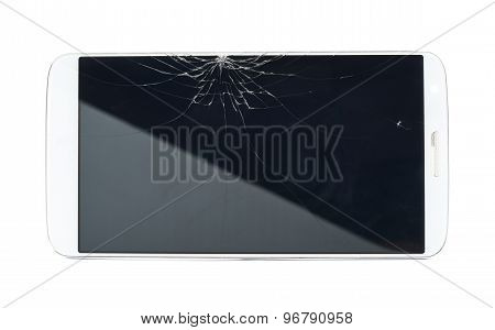 Smart phone with a broken screen