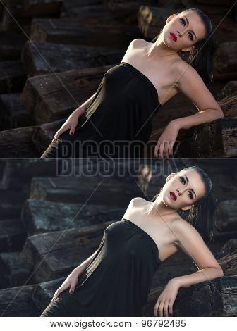Beautiful Sexy Brunette Girl
