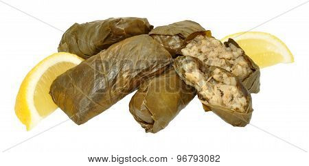 Vine Leaves Stuffed With Rice And Herbs