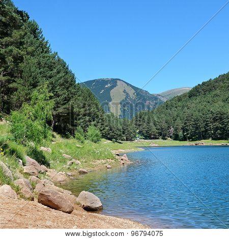 Mountain Lake In The Pyrenees (andorra)