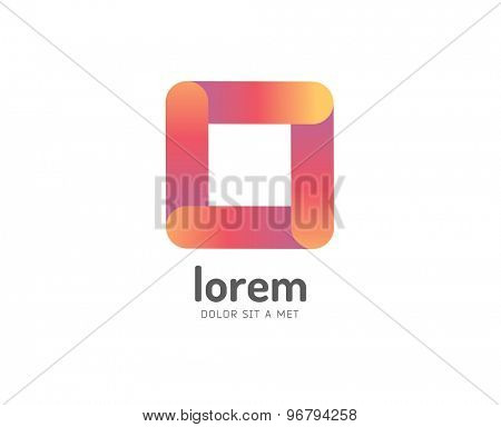 Abstract colored box vector icon. Isolated on white background. Circle, colored, shape, globe, abstract, web, flow, minimal, modern. Company logo. Identity and branding design