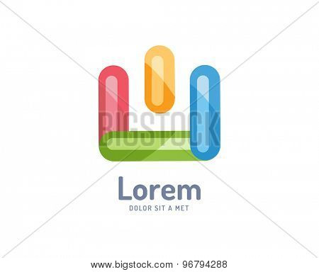 Abstract colored vector icon. Isolated on white background. Circle, colored, shape, globe, abstract, web, flow, minimal, modern. Company logo. Identity and branding design