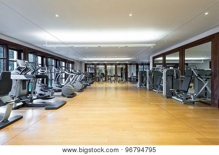 Fitness Center Interior. Gym