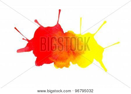 Abstract yellow red spots