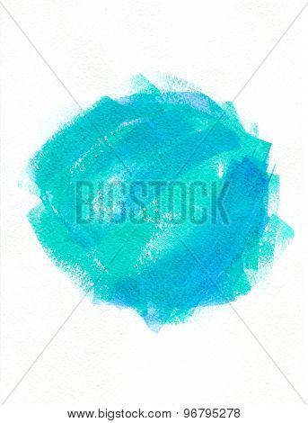 abstraction blue green