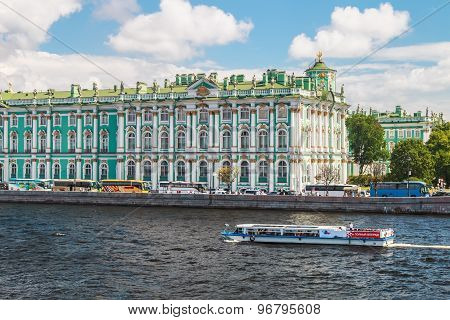 View Of Winter Palace From Neva River. St.petersburg, Russia