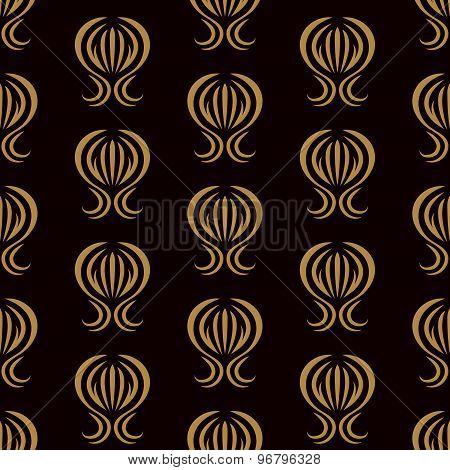 Vector Wallpaper With A Repeating Pattern On A Brown