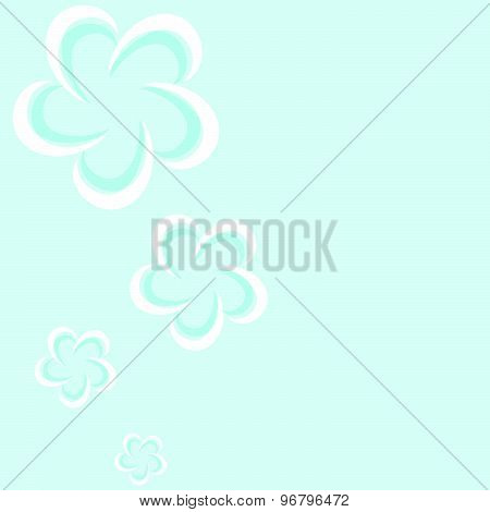 Seamless Flowers On A Blue Background