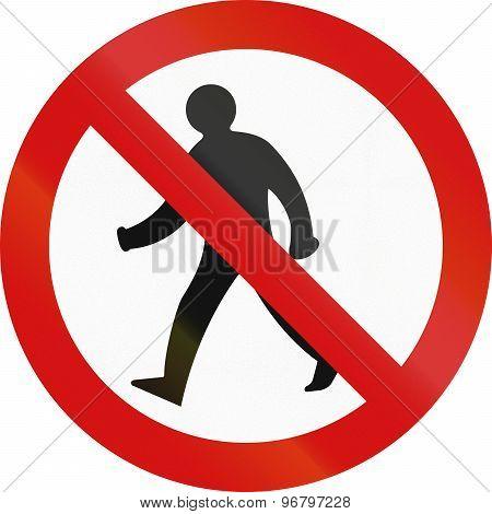 No Pedestrians In Ireland