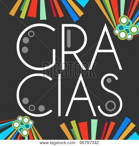 Gracias Dark With Colorful Elements