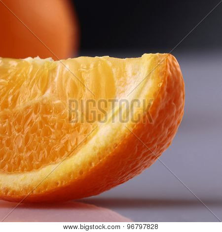 Closeup Of Orange Lobu;e