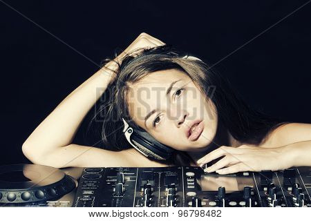 Pretty Disk Jockey Girl