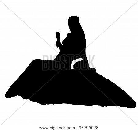bride realistic silhouette vector illustration