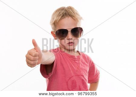 Cool Boy With Thumb Up
