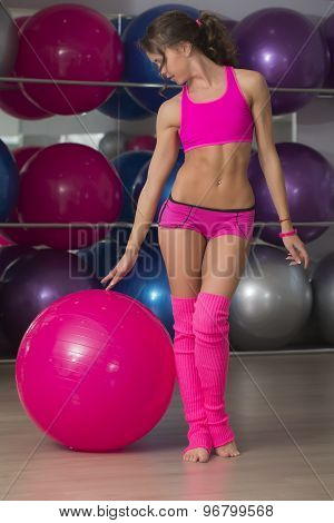 Sexy Fitness Girt With Ball