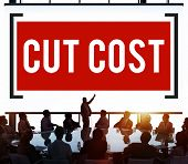 image of reduce  - Cut Cost Reduce Recession Deficit Economy Finance Concept - JPG