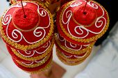 foto of hindu  - Traditional indian manda used for hindu marriages in north India - JPG