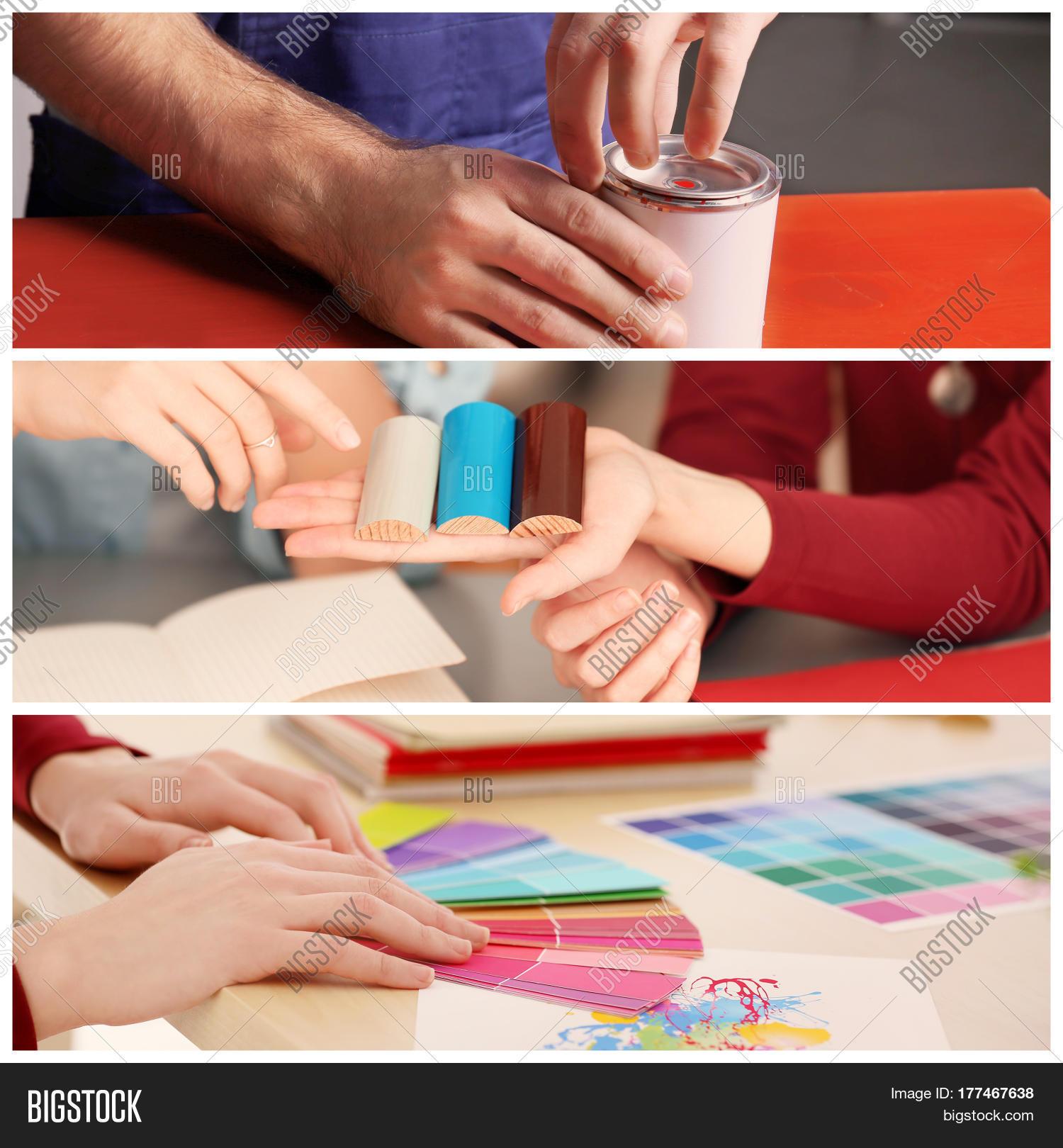 Bild und foto collage decorator professional bigstock for Professional decorator