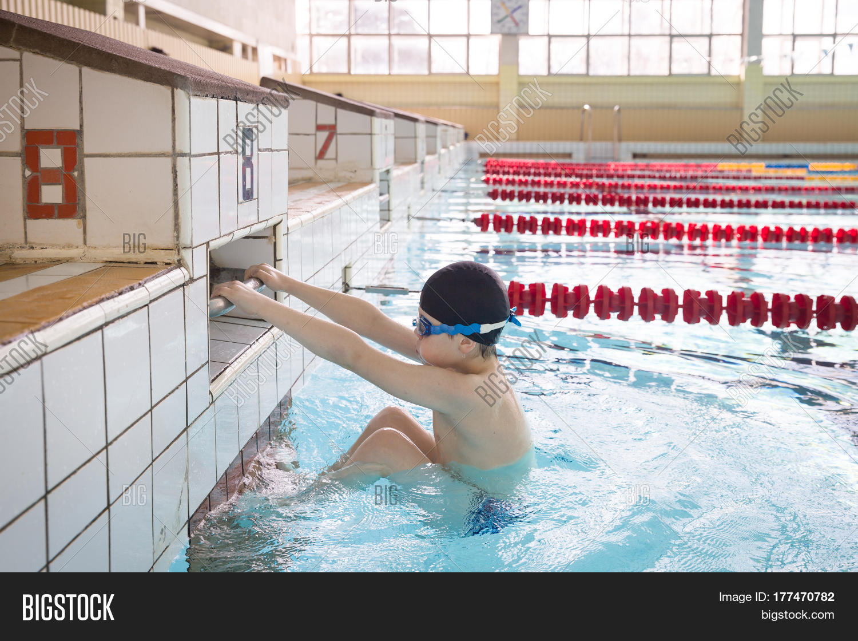 Cute Little Kid Boy Ready Swimming Image Photo Bigstock