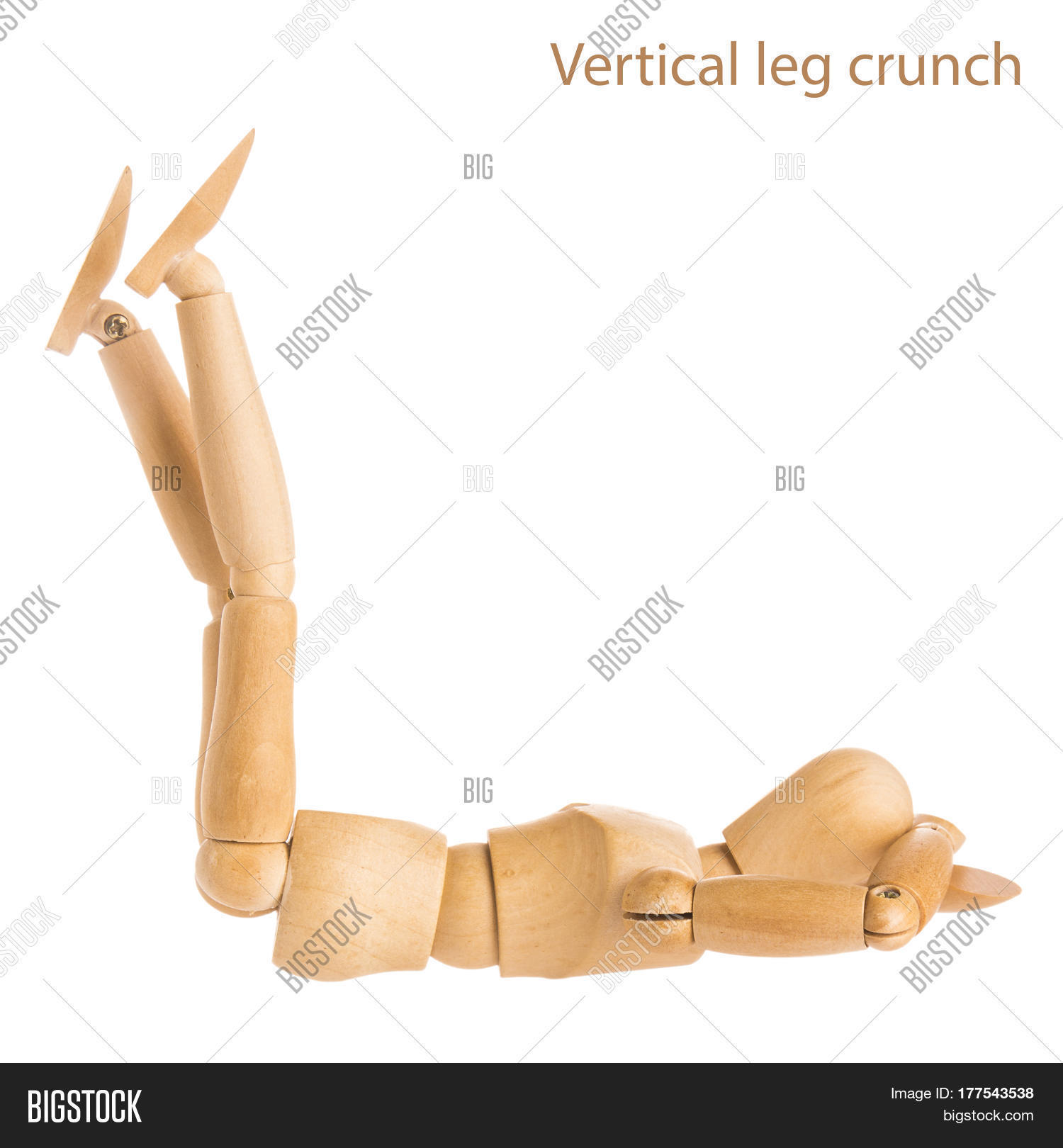 Vertical Leg Crunch Pose Stock Photo & Stock Images | Bigstock