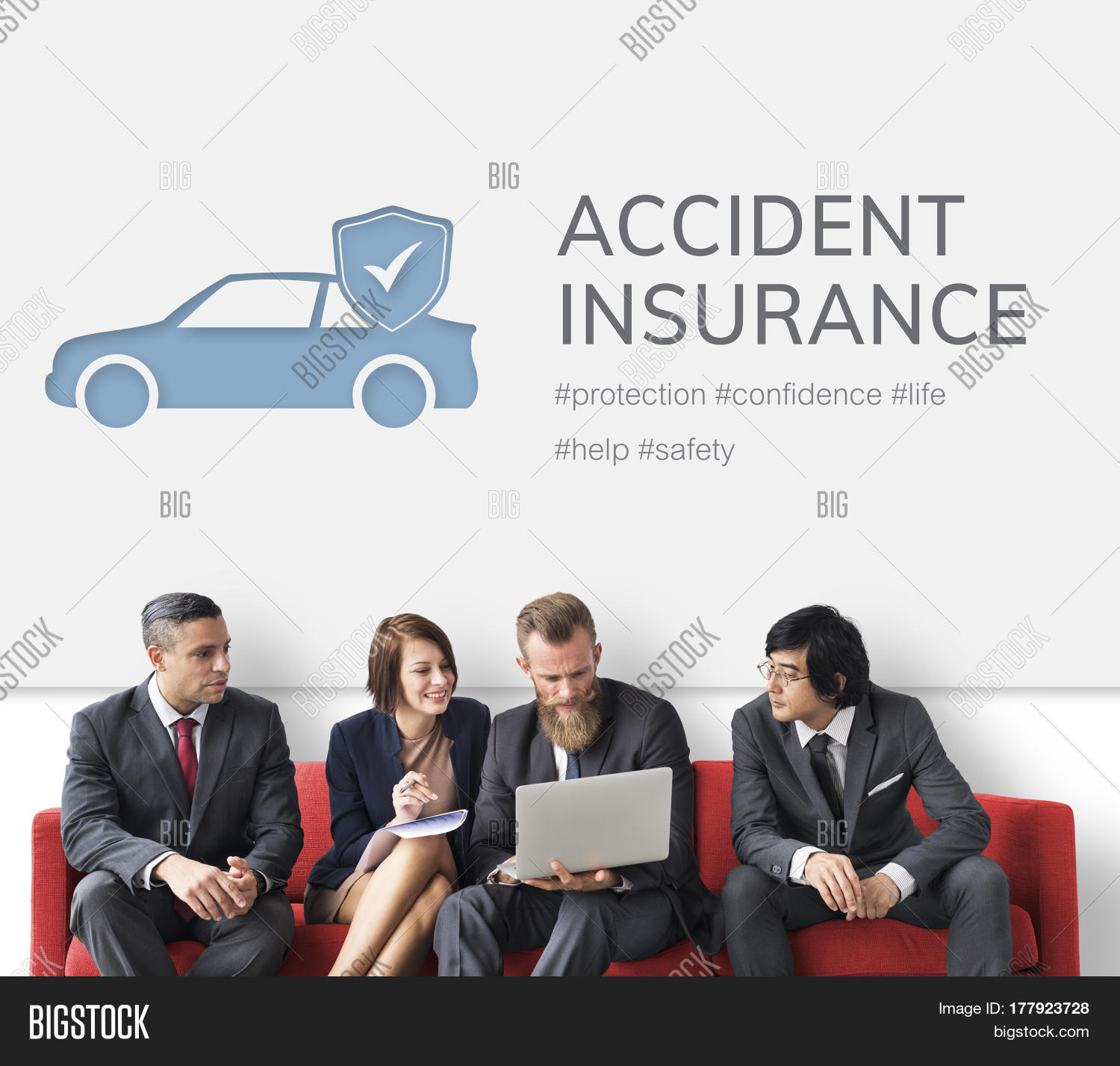 Car Insurance Coverage Accident Image & Photo