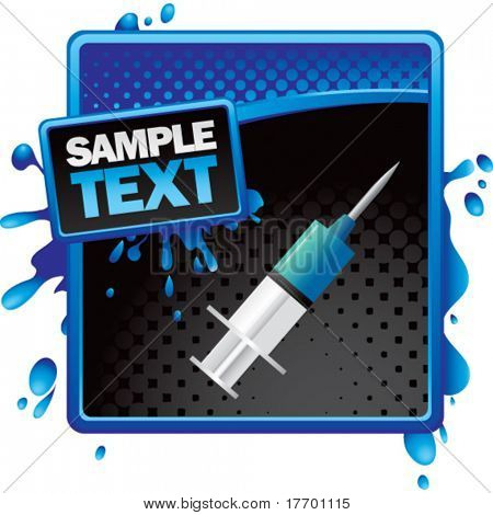 syringe on classy modern style grunge template