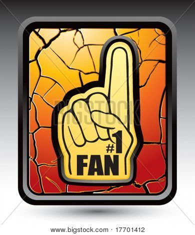 fan hand on cracked gold icon