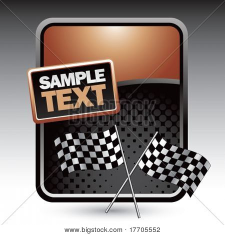 racing flags on clean colored halftone background
