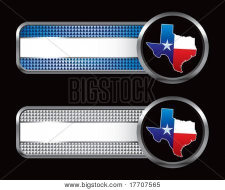 Texas lonestar state on striped banners