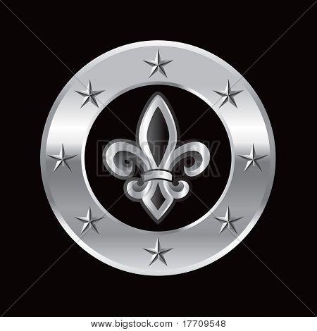fleur de lis silver star ring