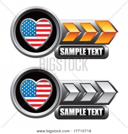 american heart gold and silver arrow nameplate banners