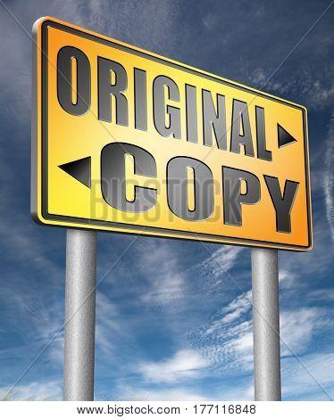 original copycat originality cheap and bad copy or unique top quality product guaranteed  3D, illustration