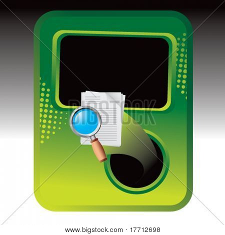 magnify documents green halftone template