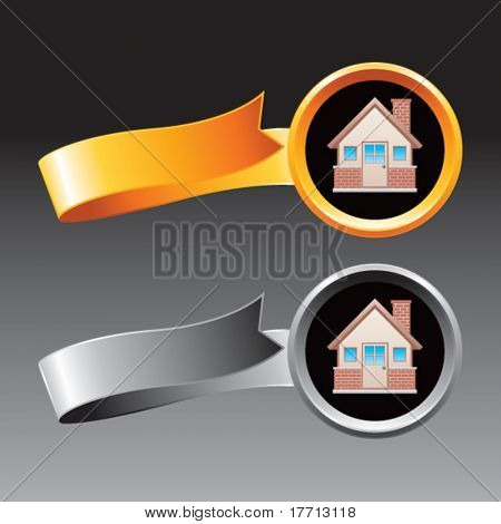 brick house orange and gray ribbons