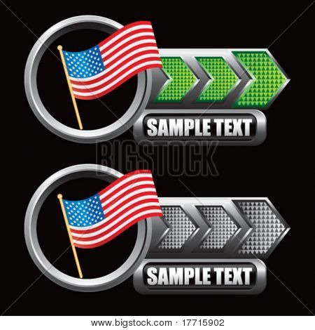 american icon green and gray arrow nameplates