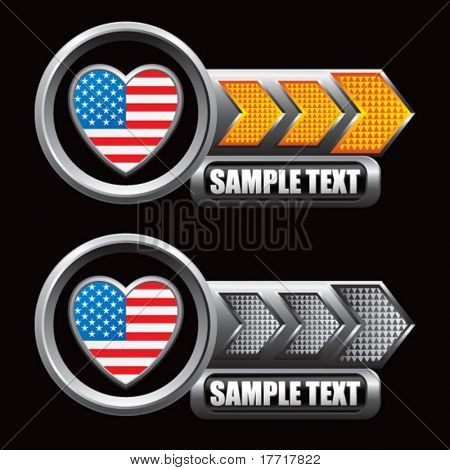 usa icon orange and gray arrow nameplates