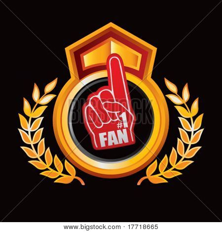 fan hand orange and red royal display