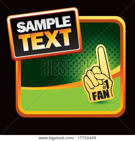 fan hand green halftone banner