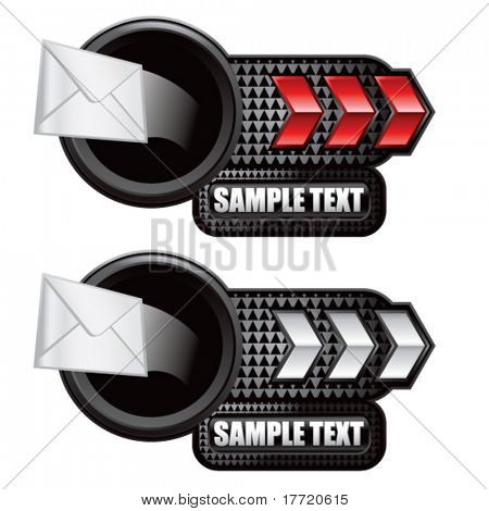 shooting email red and white arrow nameplates