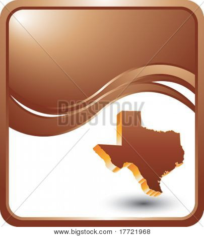 texas state on bronze wave backdrop