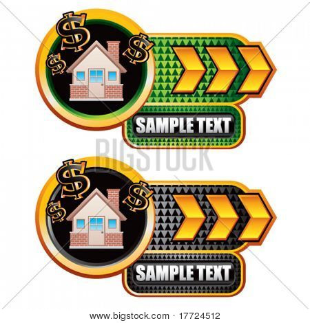 money house gold arrow nameplates