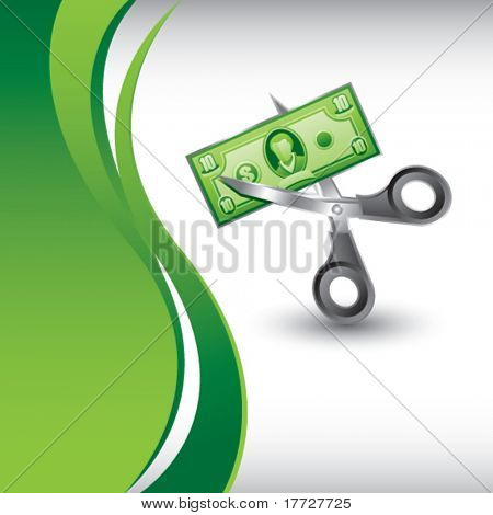 price cut vertical green wave