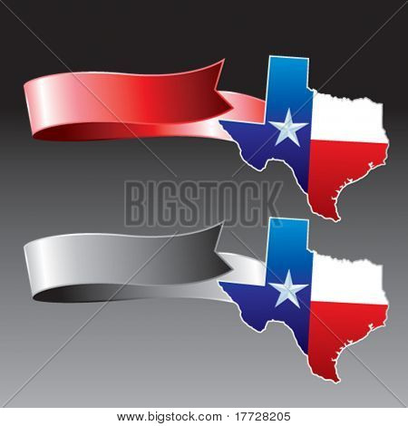 lonestar state red and gray ribbons