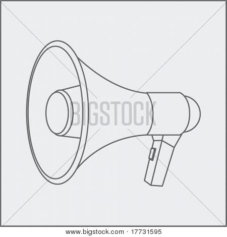 megaphone drawing