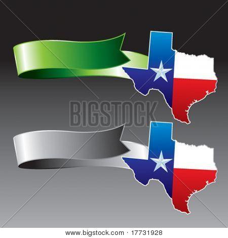 lonestar state green and gray ribbons