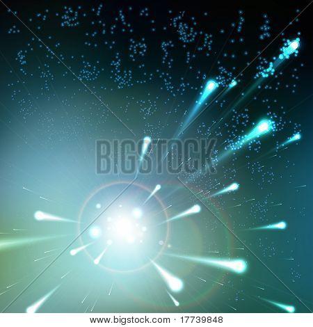 Meteoriten-Regen