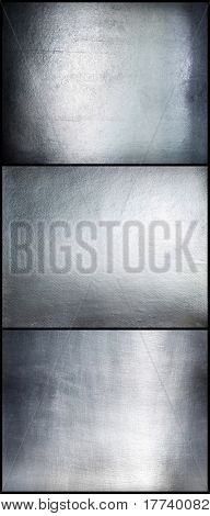 Set metal plate steel background.Hi res.