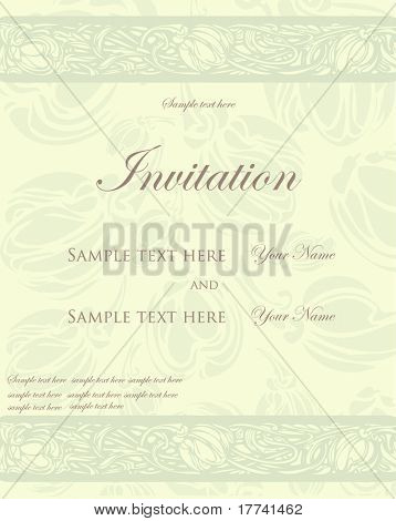 Vintage card, design for wedding invitation